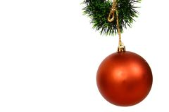 Christmas balls on a white bac Stock Images