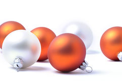 Christmas balls on white background Royalty Free Stock Image