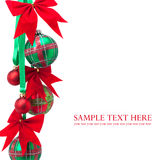 Christmas balls on white background Stock Images