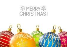 Christmas balls on white background Stock Photos