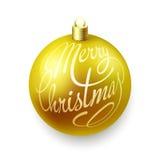 Christmas balls on white background. Gold Christmas balls  on white background Royalty Free Stock Image