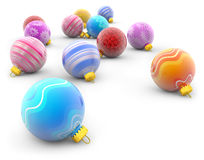 Christmas balls on white background Stock Photography