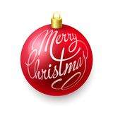 Christmas balls on white background. Red Christmas balls  on white background Royalty Free Stock Photos