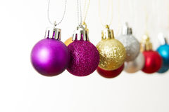 Christmas balls on a white background Royalty Free Stock Image