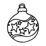 Christmas balls on white background. Vector illustration Royalty Free Stock Photo