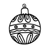 Christmas balls on white background. Vector illustration Royalty Free Stock Photos