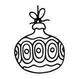 Christmas balls on white background. Vector illustration Royalty Free Stock Image