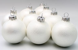 Christmas balls white mat Royalty Free Stock Photography