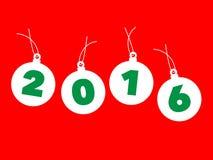 Christmas balls 2016 Royalty Free Stock Photography