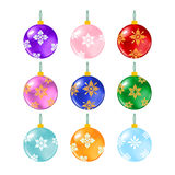 Christmas balls on white Royalty Free Stock Images
