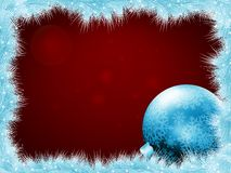 Christmas balls at the xmas glow background. EPS 8 Royalty Free Stock Photo