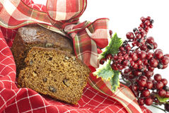 Christmas Banana Nut Bread Stock Photo