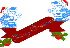 Christmas banner. Illustration in white background Stock Image