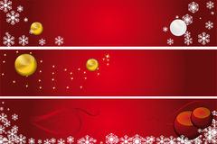Christmas banner. A red illustration for christmas Royalty Free Stock Photos