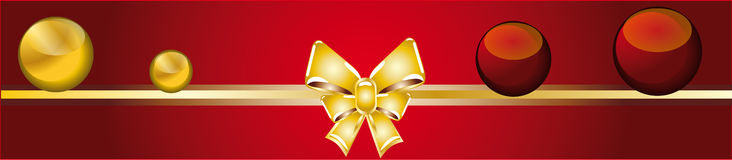 Christmas banner. A red banner for christmas Royalty Free Stock Photography
