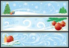Christmas banner. Three abstract Christmas banners, illustration Royalty Free Stock Photos