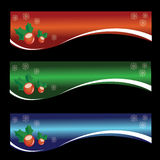 Christmas Banner. That designed in three different color Royalty Free Stock Photo