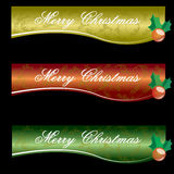 Christmas Banner. That design with three different color Royalty Free Stock Images