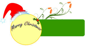 Christmas banner. Decorative christmas banner with red hap Stock Image