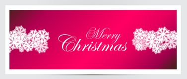Christmas banner. With white snowflakes. Vector illustration Royalty Free Stock Images