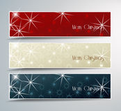 Christmas banner. Set of vector Christmas banner Stock Images
