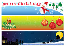 Christmas Banner For 3 Period Of Time_eps. Christmas banner for morning, evening and night. Merry Christmas Royalty Free Stock Photography