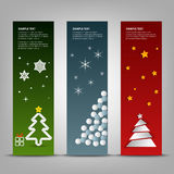 Christmas banner with abstract colorful trees template Royalty Free Stock Photo