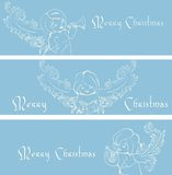 Christmas banner background with singing angels. Stock Photography