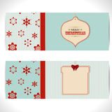 Christmas banner background with tags Stock Images