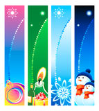 Christmas banner backgrounds. Colorful Christmas banner or sider backgrounds. Base banner size is 120x600 Stock Photo