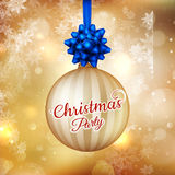 Christmas banner with baubles. EPS 10. Christmas banner with baubles and place for text. EPS 10 vector file included Stock Photos