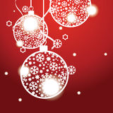 Christmas banner with Christmas balls Royalty Free Stock Image