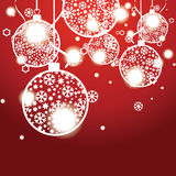 Christmas banner with Christmas balls Stock Photos