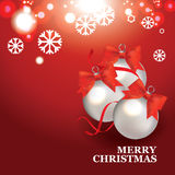 Christmas banner with Christmas balls Stock Images