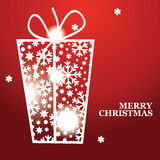 Christmas banner with Christmas gift Royalty Free Stock Photo