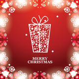 Christmas banner with Christmas gift Royalty Free Stock Image