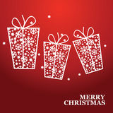 Christmas banner with Christmas gift Stock Photography