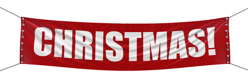 Christmas Banner (clipping path included) Stock Photos