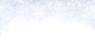 Christmas banner with crystallic snowflakes Royalty Free Stock Photo