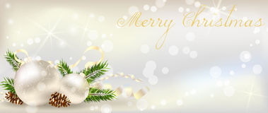 Christmas banner with decoration Royalty Free Stock Photo
