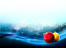 Christmas Banner with Falling Snowflake Stock Photo
