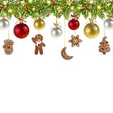 Christmas Banner with Christmas Gingerbread vector illustration