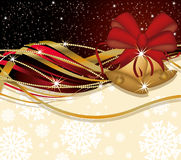 Christmas banner with golden bells Stock Photography