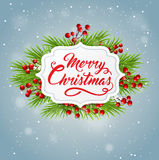 Christmas banner with green fir branch Stock Photography