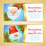 Christmas banner horizontal Stock Images