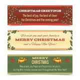 Christmas banner horizontal Stock Photos