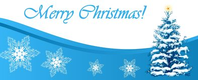 Christmas banner illustration Stock Photos