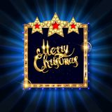 Christmas banner with light bulbs royalty free illustration
