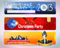 Christmas Banner Party Royalty Free Stock Photos