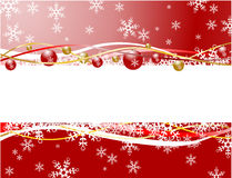 Christmas banner red color Stock Photo